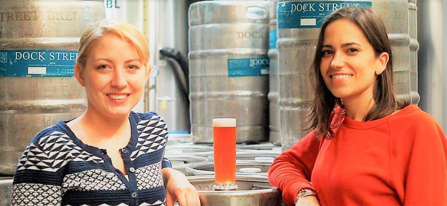 Red Owl Tavern Executive Chef Caitlin Mateo and Dock Street Brewery and Restaurant Vice President Marilyn Candeloro are collaborating on a series of seasonal beers that will be available at Red Owl Tavern in Old City and West Philly's Dock Street Brewing Co.