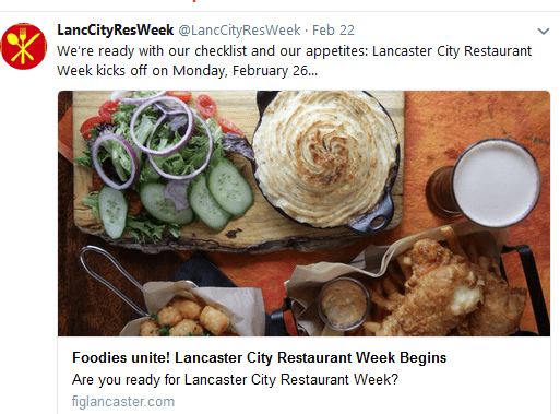 Lancaster City Restaurant Week