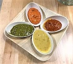 Verts sauce selection was introduced with a perfectly textured falafel compemented with a Tzatziki Sauce base was extraordinary fulfilling and a must taste for the adventurous. Not awake yet? More sauces will do the trick. The spicy cilantro ,herb vinaigrette, hot harissa, and lets not forgot the spicy hot red pepper...and trust me you won't. All will be excellent enhancements to whatever combination your heart desires.