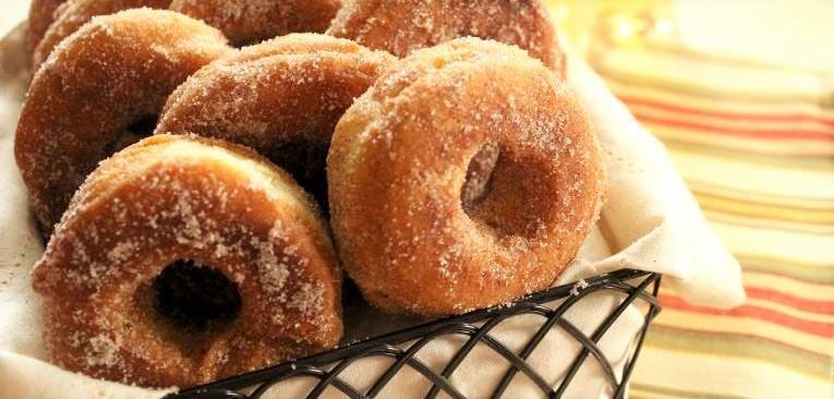 Crisp Apple Donuts, Yield - 12 donuts plus holes Cook Time: 10 minutes Inactive Time: 3 hours or overnight