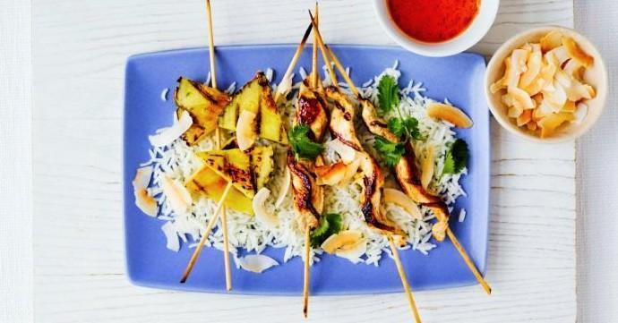 BBQ 101: Coconut Pineapple Skewers