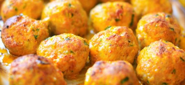 Recipe 101: Baked Chicken Meatballs -  This simple to make recipie can be used at your next party or event as an appetizer or used to fill sliders. These Chicken Baked Meatballs are easy to make and will leave your guest talking and wanting more.