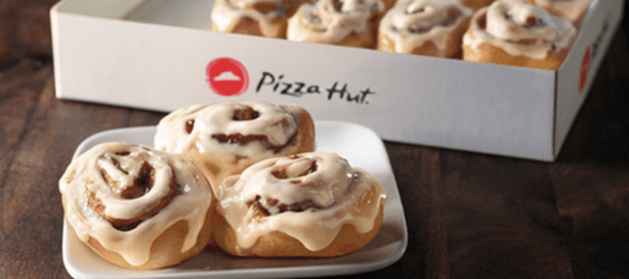 Pizza Hut to Offer Crafted by Cinnabon Mini Rolls