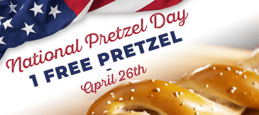 Philly Pretzel Factory Free Pretzels National Pretzel Day, April 26