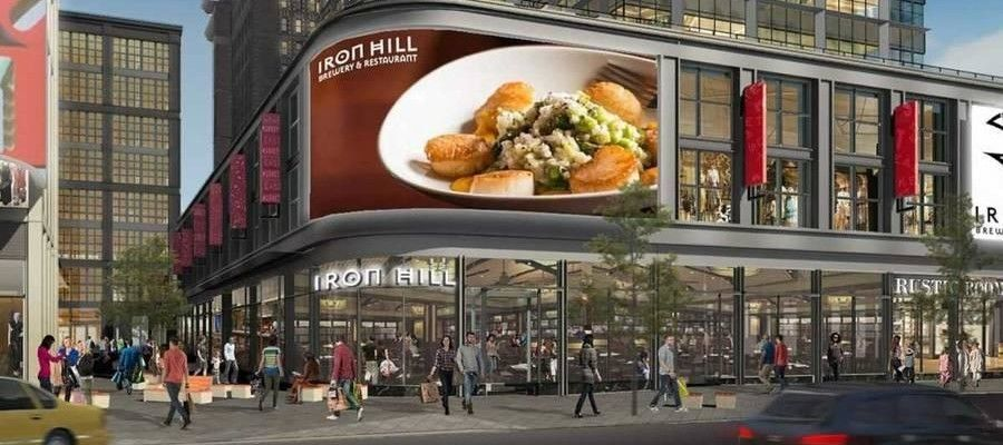 Rendering of Iron Hill Brewery & Restaurant location planned for the East Market project's western residential tower at 1150 Market St.