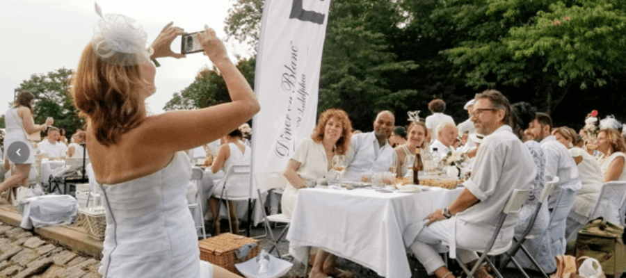 Philadelphia Le Dîner en Blanc 2019 at Boathouse Row