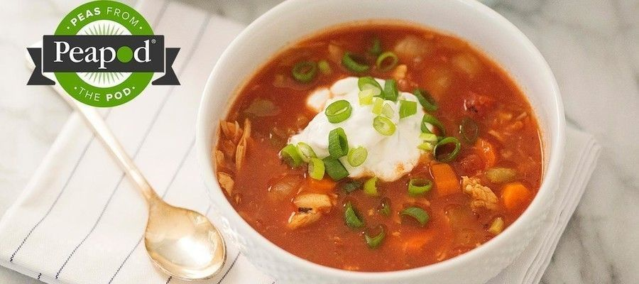 Buffalo Chicken Chili with Blue Cheese Sour Cream