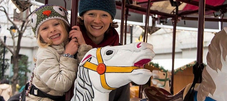Christmas Carousel Rides Returns to Dilworth Plaza