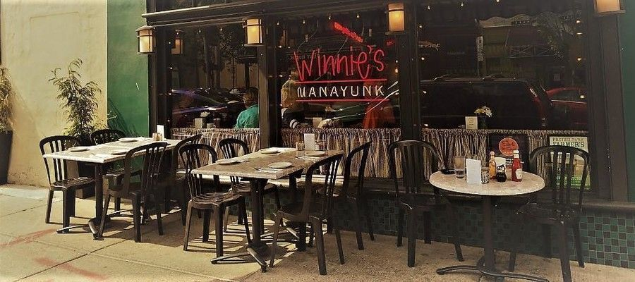 Winnie's Le Bus has been on Manayunk's Main Street. Patrons frequent Winnie's to enjoy eclectic American food that is homemade with locally sourced ingredients. Chef John O'Brien runs the kitchen here and next door at Winnie's sister restaurant, Manayunk's Smokin' Johns BBQ.