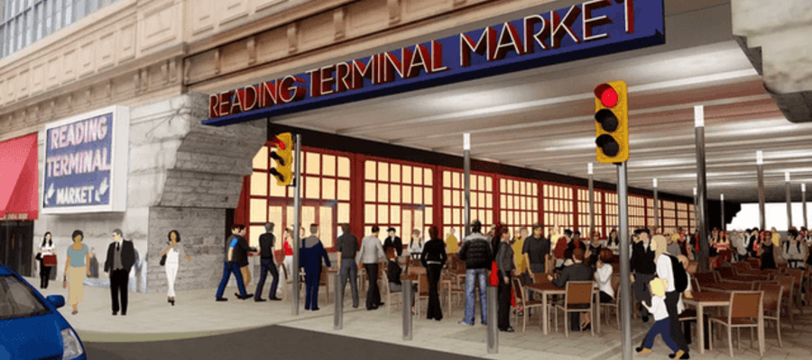 Reading Terminal Market New Pedestrian Plaza