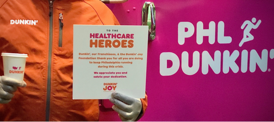 Dunkin' Spreads the Love to Healthcare Heroes